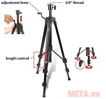 Hình ảnh chân máy đo khoảng cách cho máy laser