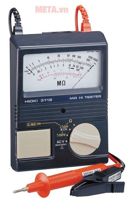 Hình ảnh đồng hồ đo điện trở cách điện Hioki 3118-11