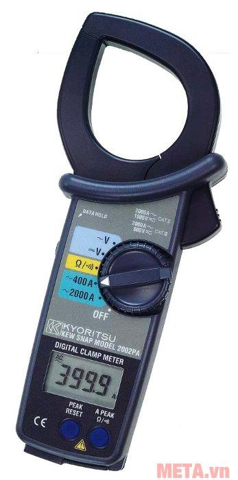 Ampe kìm Kyoritsu 2002PA có đầu kìm hình giọt lệ với đường kính 55mm