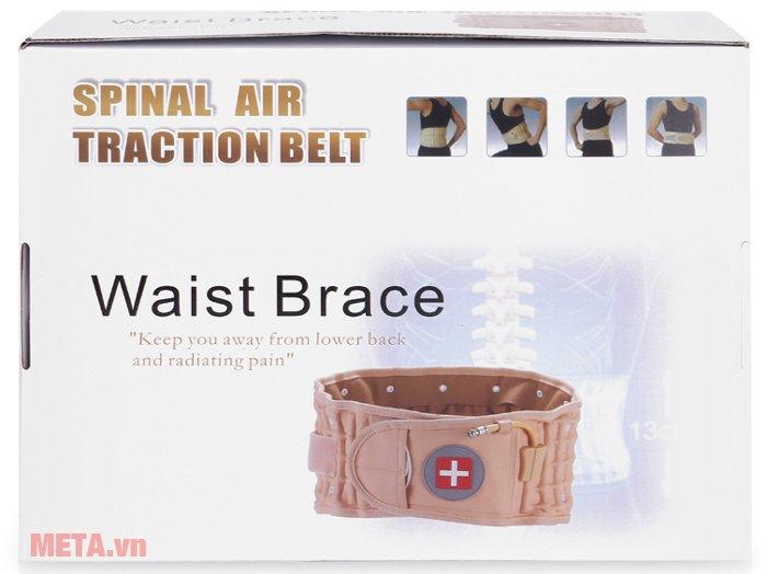 Đai hơi kéo giãn cột sống Lumbar Traction Belt CR-801 có hộp đựng giấy bìa cứng
