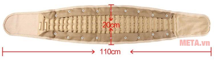 Kích thước của đai hơi kéo giãn cột sống Lumbar Traction Belt CR-801