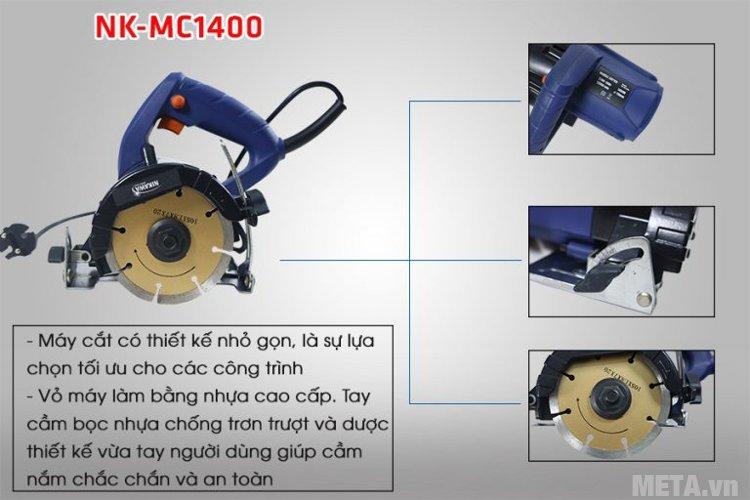 Máy cắt gạch, đá đa năng Nikawa NK-MC1400 sử dụng mô tơ chổi than