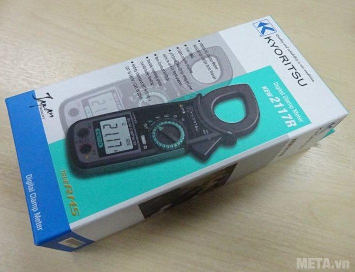 Ampe kìm Kyoritsu 2117R bảo quản trong hộp giấy