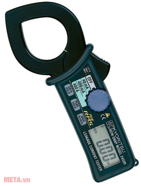 Ampe kìm Kyoritsu 2433R có 2 thang đo AC: 0 - 40mA/400mA - 400A