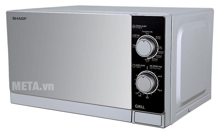 Lò vi sóng nướng cơ Sharp R-G223VN-SM có màu xám