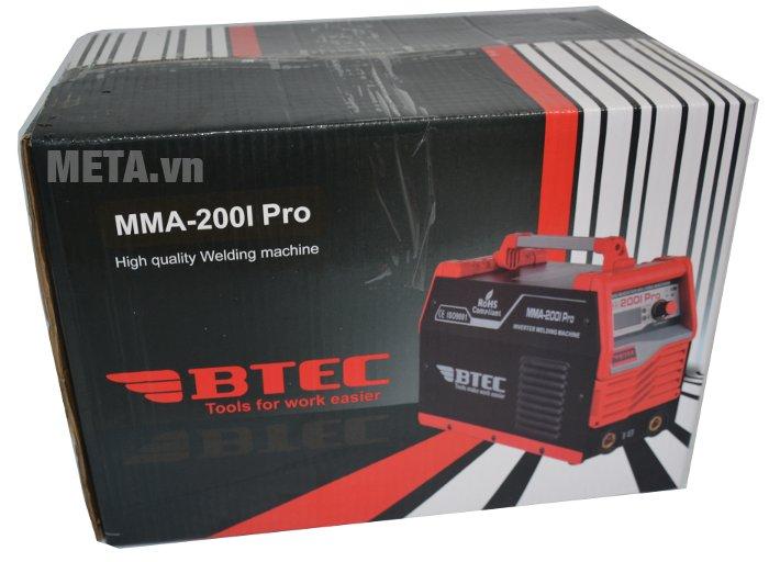 Máy hàn Inverter Btec MMA-200I Pro dùng nguồn điện AC 220V
