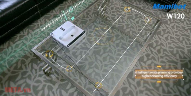 Robot lau kính Mamibot W120 giúp vệ sinh kính nhanh chóng
