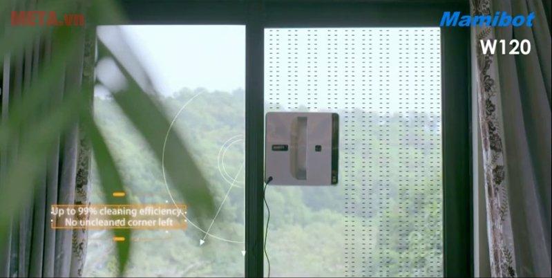 Robot lau kính Mamibot W120 thiết kế nhỏ gọn