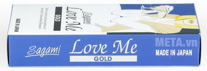 ãng Bao cao su Sagami Love Me Gold hàng cao cấp