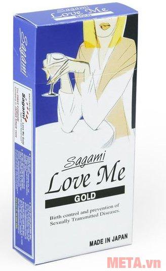 Bao cao su Sagami Love Me Gold co giãn theo dương vật hiệu quả