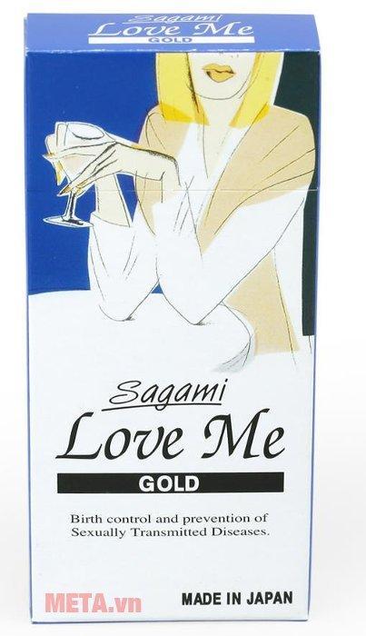 Bao cao su Sagami Love Me Gold dòng bao cao su siêu mỏng