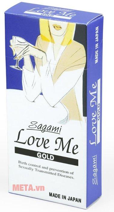 Bao cao su Sagami Love Me Gold dành cho nam giới