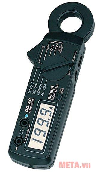 Ampe kìm Sanwa DCM-22AD có núm vặn chọn chế độ đo