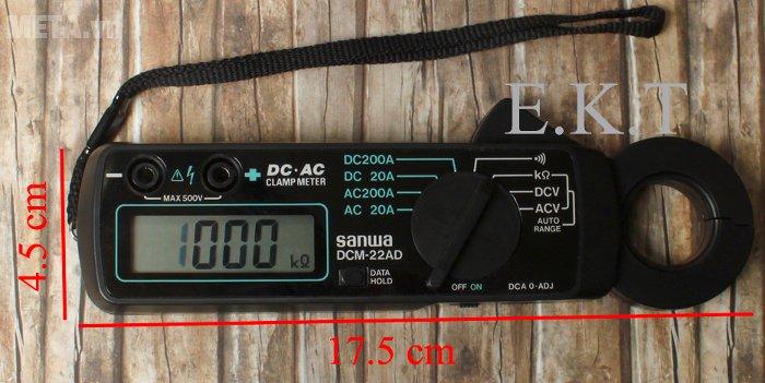 Ampe kìm Sanwa DCM-22AD có đầu kìm 22mm
