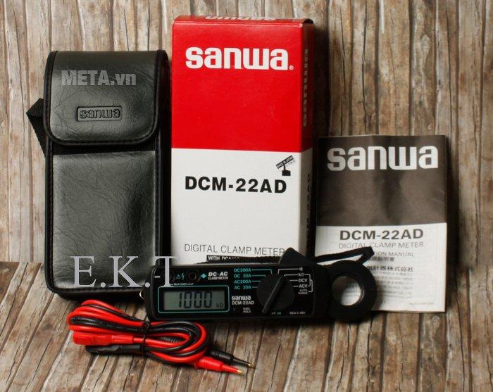 Bộ sản phẩm ampe kìm Sanwa DCM-22AD