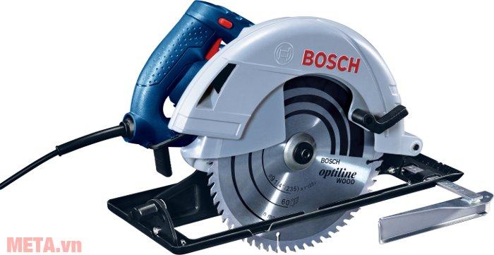 Máy cưa đĩa Bosch GKS 235 có nút duy trì thao tác cưa
