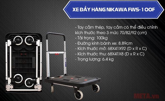 Xe đẩy hàng Nikawa FWS-100F có tải trọng 150kg