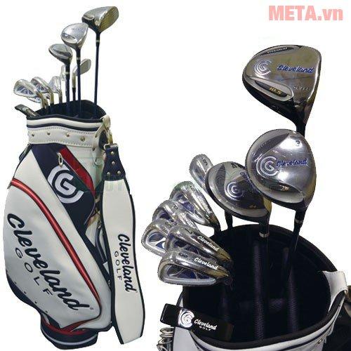 Bộ gậy golf Fullset nam Cleveland CG-C thiết kế khe để gậy êm ái