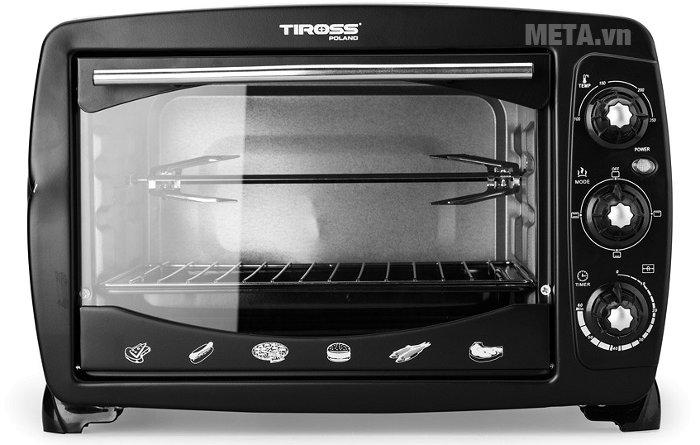 Lò nướng Tiross TS-960 có thể nướng thịt, nướng cá, nướng bánh...