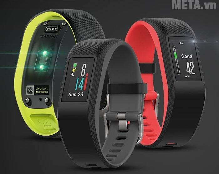 Đồng hồ đeo tay Garmin Vivosport có khả năng chống nước 5ATM, ở độ sâu 50m