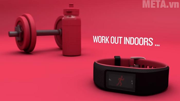 Vòng đeo tay theo dõi sức khỏe Garmin Vivosport màu đỏ