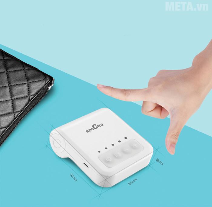 Máy hút sữa Spectra Q nhỏ gọn giúp người dùng dễ dàng mang theo