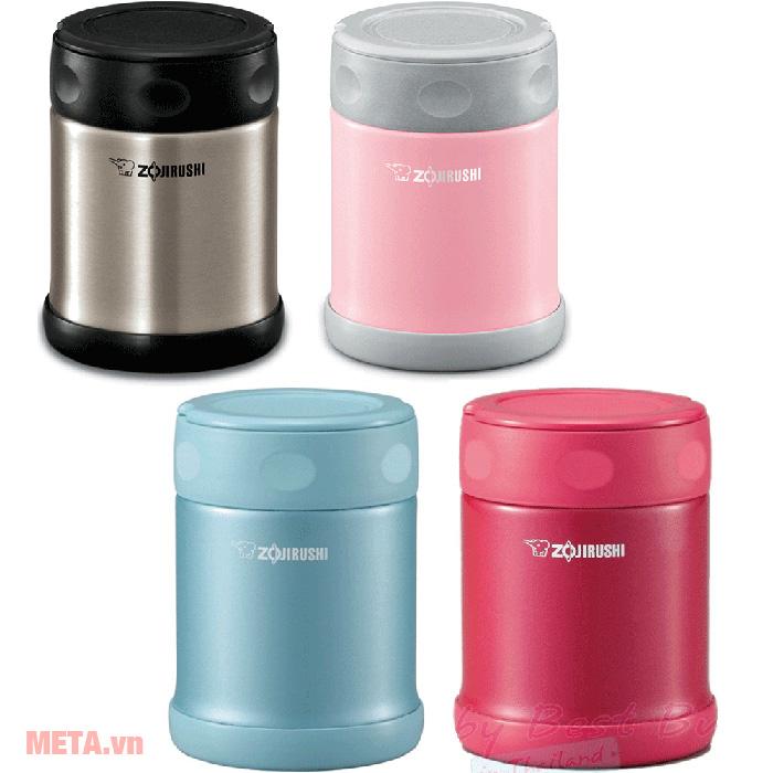 Bình đựng thức ăn Zojirushi SW-EAE50 có 4 màu: xanh, inox, hồng đậm, hồng nhạt