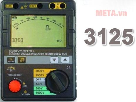 Máy đo điện trở cách điện Kyoritsu 3125 dễ dàng sử dụng