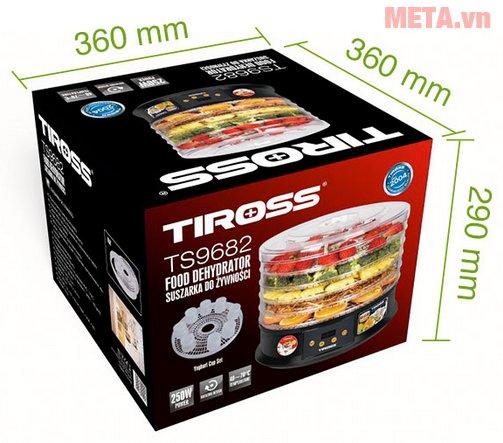Kích thước thùng của máy sấy hoa quả, thực phẩm đa năng Tiross TS9682