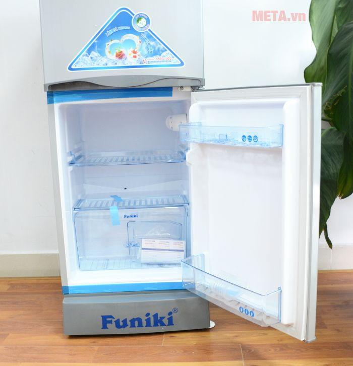 Tủ lạnh gia đình Funiki FR-125 IS được thiết kế các ngăn để riêng biệt