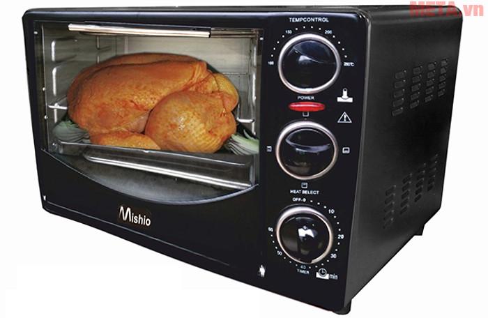 Hình ảnh lò nướng Mishio 26 lít, giúp gia đình bạn thực hiện nhiều món ăn ngon