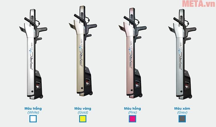 Máy chạy bộ điện cao cấp Mofit PRO900 có 4 màu: trắng, vàng, hồng, xám