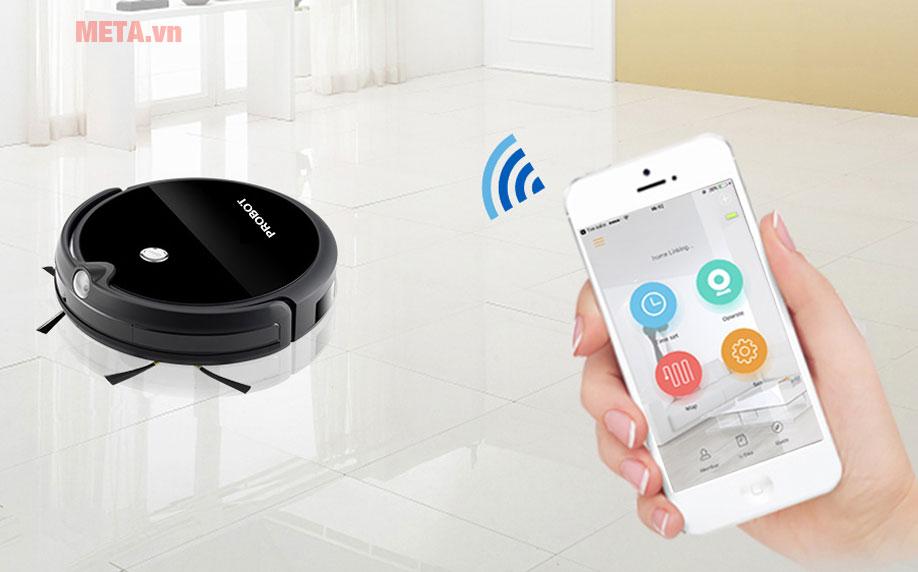 Robot hút bụi lau nhà tích hợp Wifi camera HD Probot Nelson A3S có khả năng kết nối với điện thoại