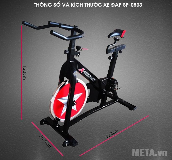 Xe đạp tập thể dục 0803 lắp đặt không tốn nhiều diện tích
