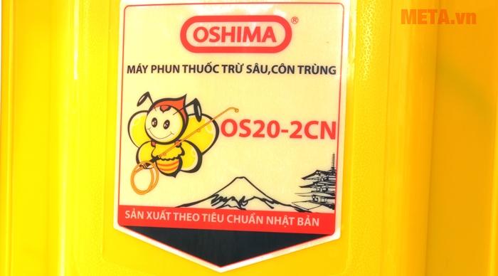 Bình xịt điện Oshima OS20 được sản xuất trên dây chuyền công nghệ Nhật Bản