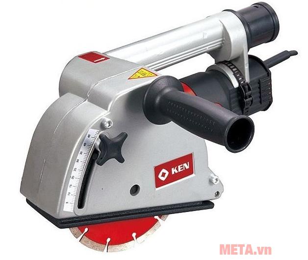Máy cắt tường cầm tay Ken 4545B có thước đo tiện dụng