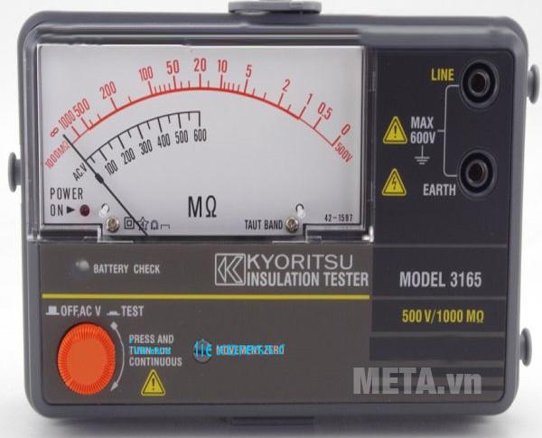 Đồng hồ đo điện trở cách điện Kyoritsu 3165 dùng đo điện trở và điện áp