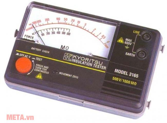 Đồng hồ đo điện trở cách điện Kyoritsu 3165 màu đen