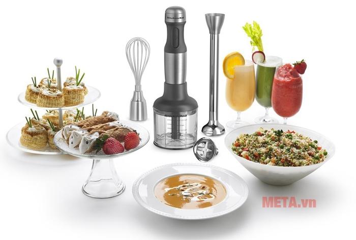 Máy xay trộn cầm tay đa năng KitchenAid 5KHB2569GOB chuyên dụng để làm bánh, tạo sữa và nhiều món ăn khác