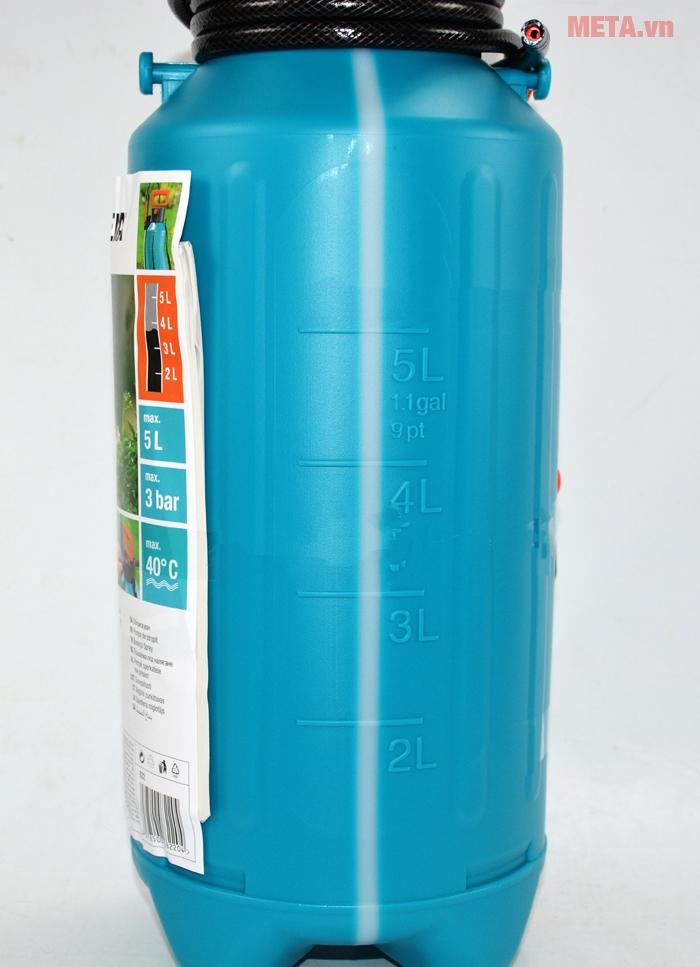 Bình xịt áp suất 5 lít Gardena 00822-20 được làm bằng nhựa cao cấp