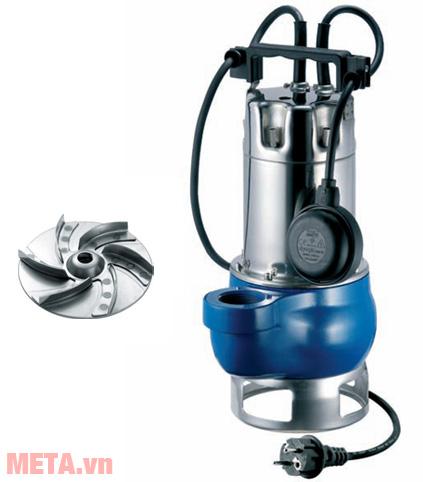 Máy bơm nước thải Pentax DGT 80 1.4 HP - 380V có thể đặt chìm dưới nước mà không bị rò rỉ điện