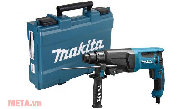 Máy khoan động lực Makita HR2600 thiết kế hộp đựng xách tay