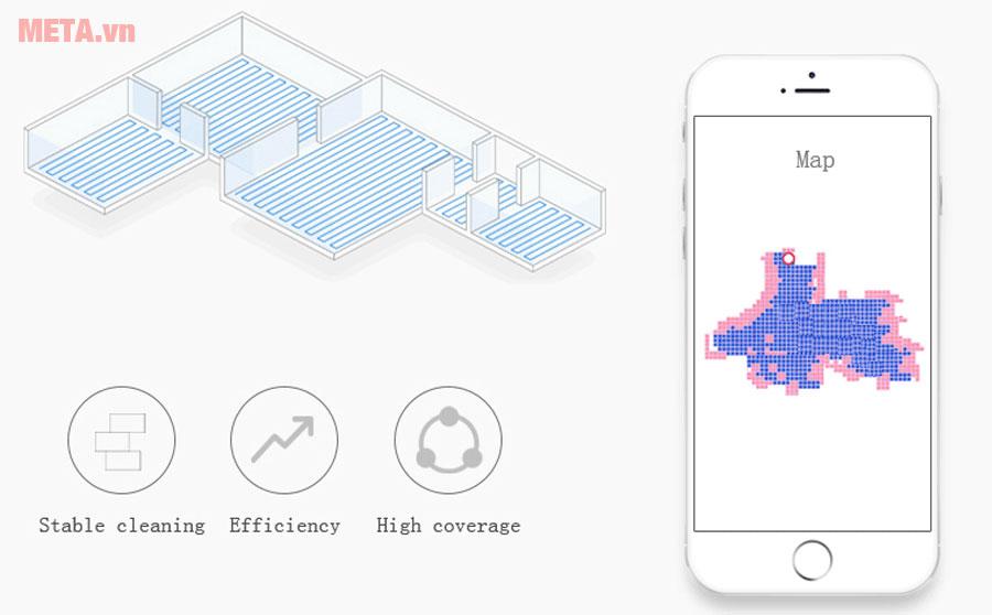 Robot hút bụi lau nhà thông minh Probot Nelson A3S có khả năng vẽ ra hệ thống bản đồ
