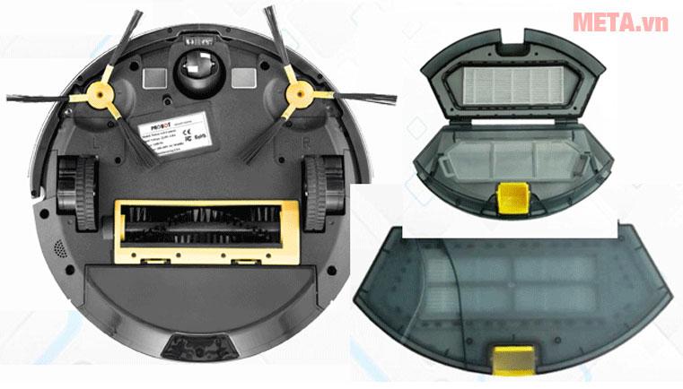 Robot hút bụi lau nhà thông minh Probot Nelson A3S có thể tháo rời các bộ phận