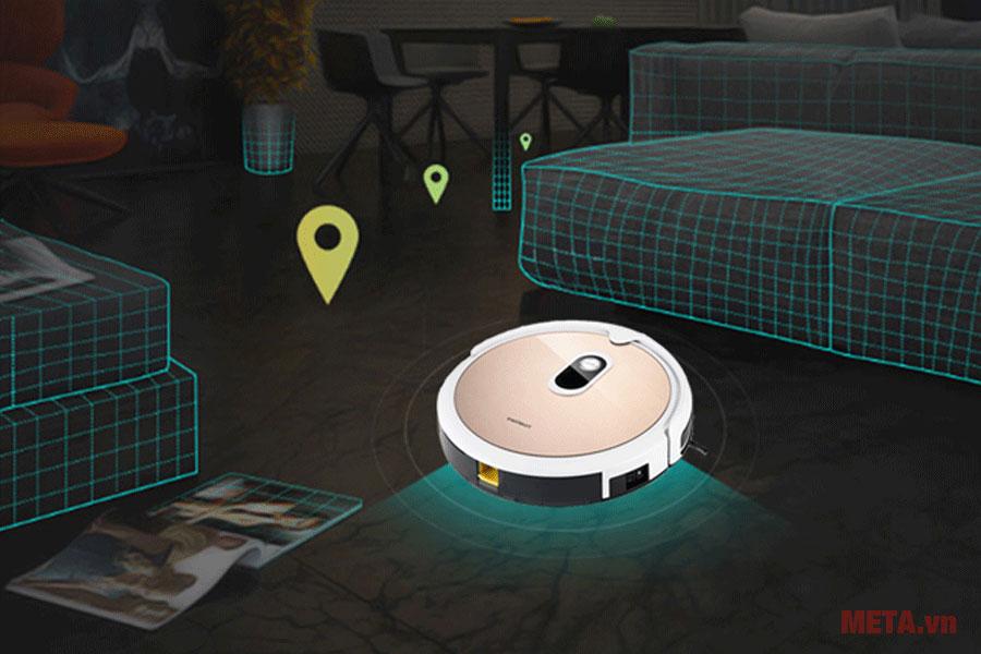 Robot hút bụi lau nhà thông minh Probot Nelson A3S có khả năng định vị