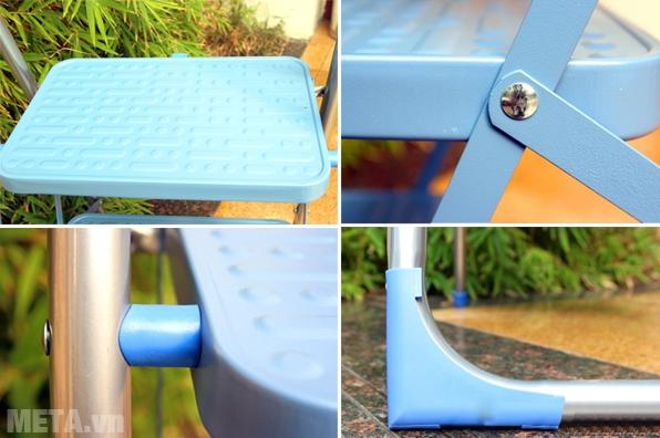 Thang ghế 2 bậc Advindeq ADS502 có chất liệu cao cấp, bền