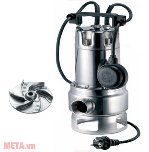 Pentax DXT 100 1.8 HP - 380V có thể đặt chìm ddưới nước để bơm nước thải, bơm bùn loãng