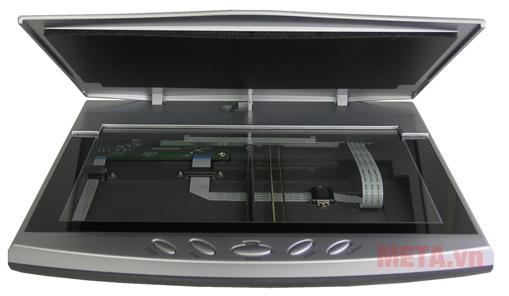 Mặt chụp thẳng máy scan hộ chiếu Plustek OS550 Plus