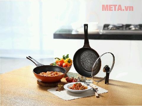 Bộ chảo chống dính Hàn Quốc 26cm cho bạn chiên xào nhiều món hơn