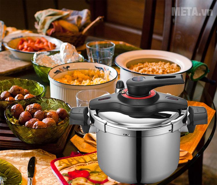 Nồi áp suất cơ PoongNyun VTGPC-10 giúp các mẹ tiết kiệm thười gian nấu nướng